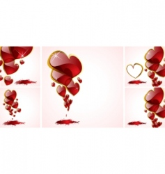vector abstract hearts background vector image vector image