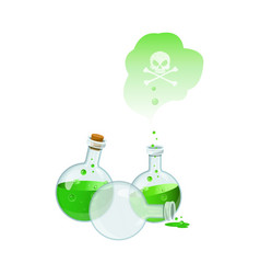 with set of poison bottles vector image