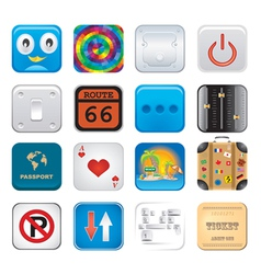 apps icon set six vector image vector image