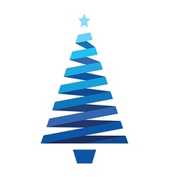 blue christmas tree vector image vector image