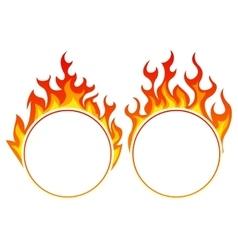 Burning round frame vector image