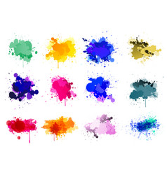 colorful paint splatters vector image