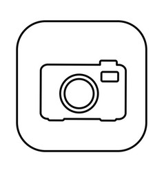 figure symbol camera icon vector image vector image
