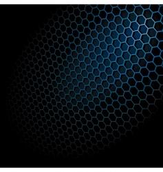 hexagon grid vector image