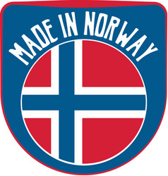 made in norway sign vector image