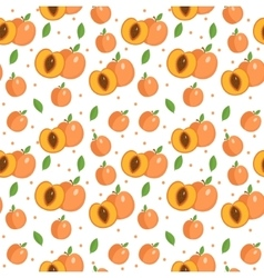 Peach seamless pattern Apricot endless background vector image vector image