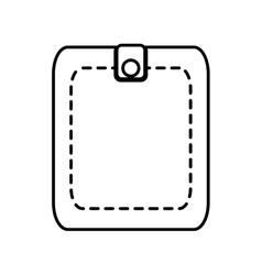 wallet save money icon line vector image