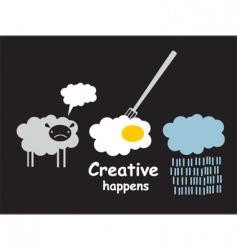 creative happens vector image vector image