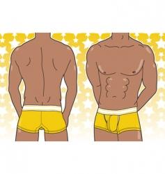 man in boxer brief vector image
