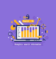 online analytics search information vector image