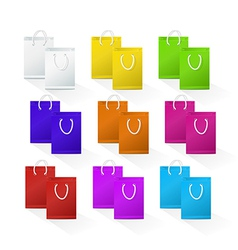 Set of Blank Shopping Paper Bags vector image