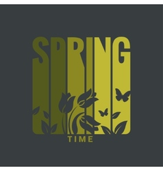 spring label design background vector image