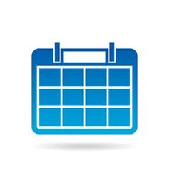 Calendar year agenda for 12 months vector image