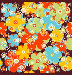 childish floral background vector image