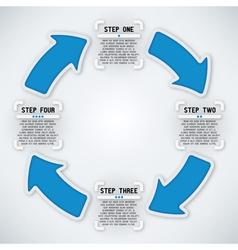 Circular Arrows - Four Steps vector image