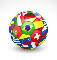 Football soccer ball vector image vector image