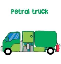 Petrol truck cartoon for kids vector