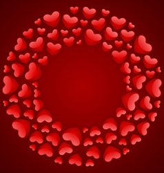 round hearts frame vector image vector image