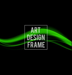 Abstract dynamic art design template vector