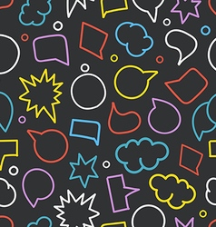Abstract hand-drawn doodle speech clouds seamless vector