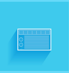 Air conditioner flat icon isolated on a blue vector