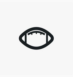 american football icon simple game element ball vector image