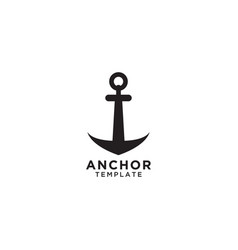 Anchor logo design template vector