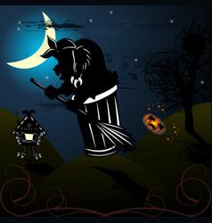 Baba yaga bone leg image of halloween vector