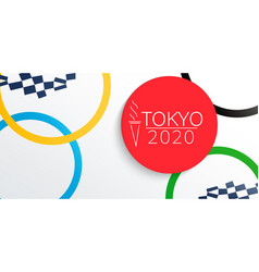 banner for 2020 olympic and paralympic games vector image