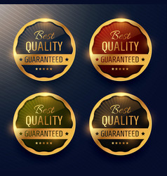 Best quality guaranteed premium gold label and vector
