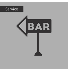 Black and white style bar sign vector