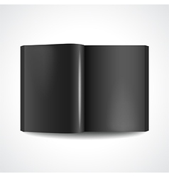 Book with black pages vector