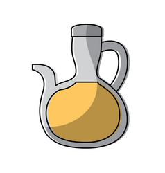 Bottle oil delicious ingredient vegetarian vector