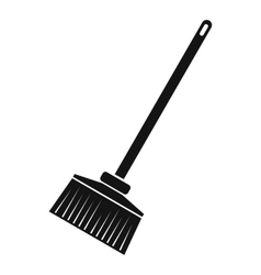 Broom icon simple style vector