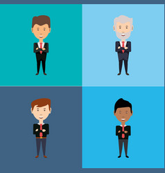 business character design vector image
