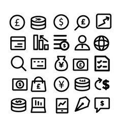 Business Icons 7 vector image