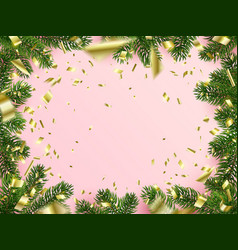 christmas background frame with copy space vector image