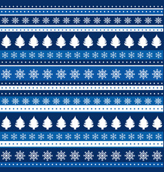 Christmas blue background wrapping paper vector