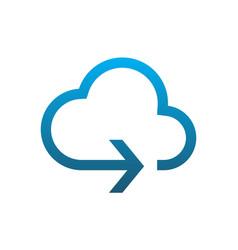 cloud arrow logo icon vector image