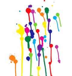 colorful blots vector image