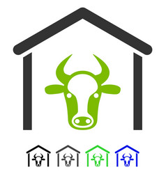 Cow garage flat icon vector