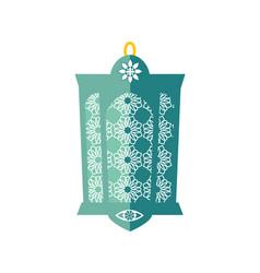 decorative lantern isolated on white background vector image