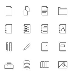 Documents icon sets line icons vector