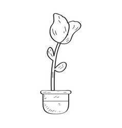 drawing of a rose retro style vector image