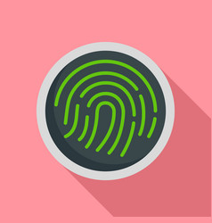 fingerprint icon flat style vector image