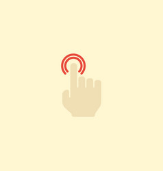 Flat icon double click element vector