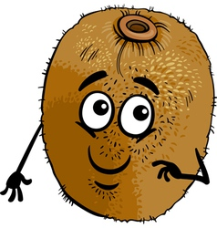 Funny kiwi fruit cartoon vector
