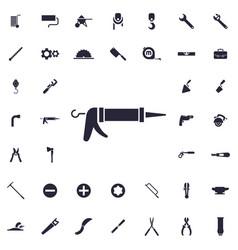 Glue gun icon vector