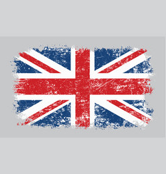 grunge old uk british flag vector image