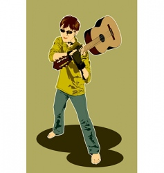 guitar player vector image vector image